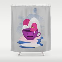 Reflections In Coffee Shower Curtain