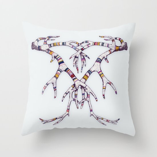 Art-lers Throw Pillow