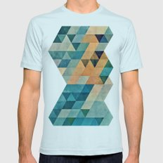 Vyntyge Pwwdr Mens Fitted Tee Light Blue SMALL