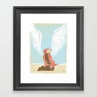 All Dogs Go to Heaven (Golden Retriever) Framed Art Print