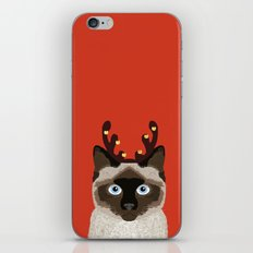 Siamese Cat Reindeer Cos… iPhone & iPod Skin