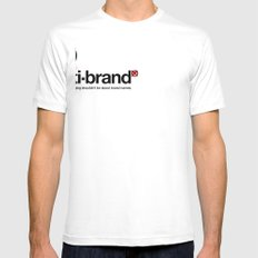 anti-brand® White Mens Fitted Tee SMALL