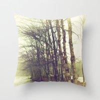 Natures Winter Slumber Throw Pillow
