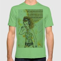 She Listens Mens Fitted Tee Grass SMALL