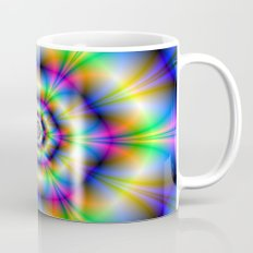 Neon Hexagons Mug