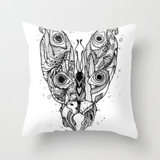 my sea butterfly Throw Pillow