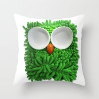 Hootie The House Owl! Throw Pillow