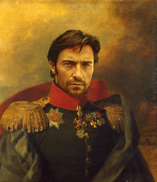Hugh Jackman - replaceface Art Print