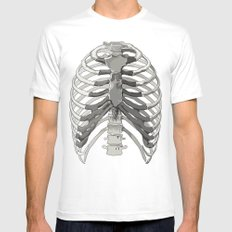 Vector Ribcage Mens Fitted Tee SMALL White