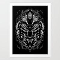 Pinstripe Megatron Art Print
