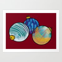 Christmas in July (ornaments) Art Print