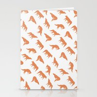 wild wolves pattern Stationery Cards