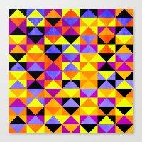 Triangles II Canvas Print