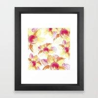 Sunflowers Watercolor Framed Art Print