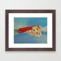 Hamster Superhero Framed Art Print
