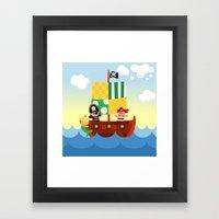 Pirate Ship Framed Art Print