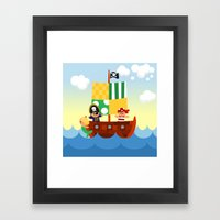 pirate ship Framed Art Print