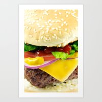 Cheeseburger Art Print