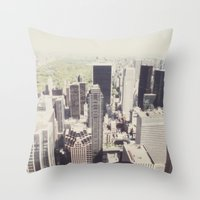 the view::nyc Throw Pillow