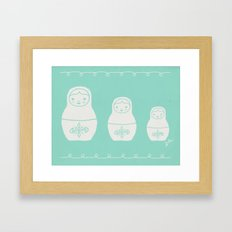 Measuring Matryoshkas  Framed Art Print