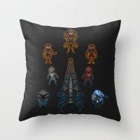Mass Effect 2 Baddies Throw Pillow