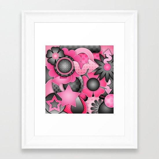 Bubble Gum Bash Framed Art Print