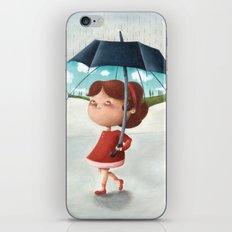 Happy umbrella iPhone & iPod Skin