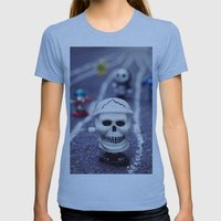 Death FTW Womens Fitted Tee Athletic Blue SMALL