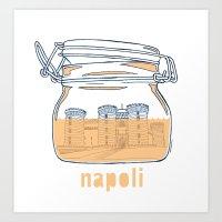 Napoli in a jar Art Print