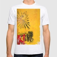 SUNBURST Mens Fitted Tee Ash Grey SMALL