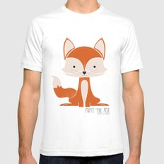 Fritz the Fox Mens Fitted Tee SMALL White