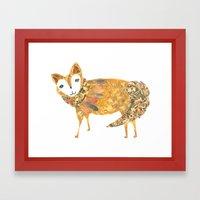 Mr fancy fox Framed Art Print
