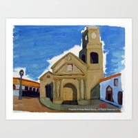 Iglesia San Agustin La Serena Art Print