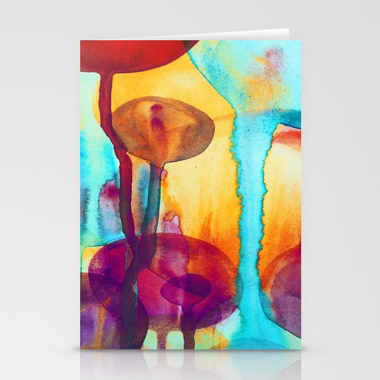Watercolor - 8 Stationery Card