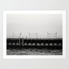 Chicago's Diversey Harbor Art Print