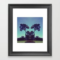 Ink Blot Tree  Framed Art Print