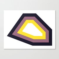 Yellow & Purple Stripy S… Canvas Print