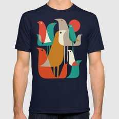 Flock of Birds Mens Fitted Tee Navy SMALL