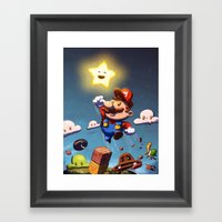 Super Brother Framed Art Print