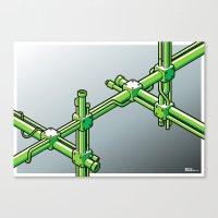 Impossible Construction Canvas Print