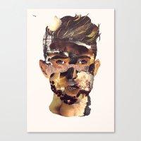 Fire Head Canvas Print