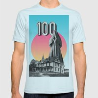 100 Nuns Mens Fitted Tee Light Blue SMALL