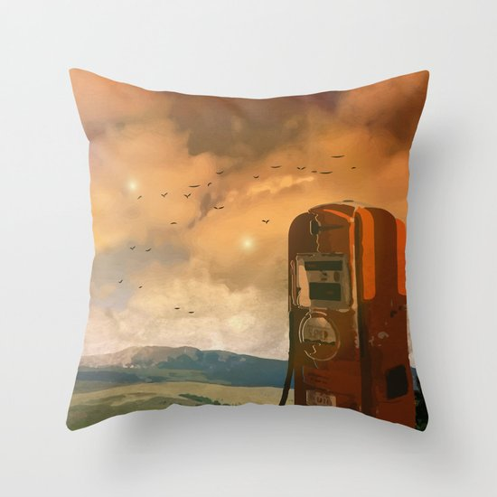 old fuel pump Throw Pillow