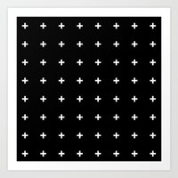 White Plus On Black /// … Art Print