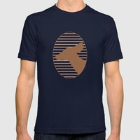 Deer Silhouette Mens Fitted Tee Navy SMALL