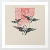Cosmic Wheels Art Print