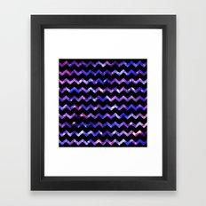 Chevron Galaxy Framed Art Print