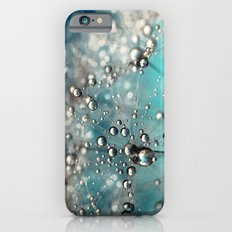 Ocean Blue  and White Dandy Drops iPhone 6 Slim Case