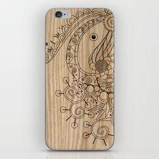 Tangle on wood iPhone & iPod Skin