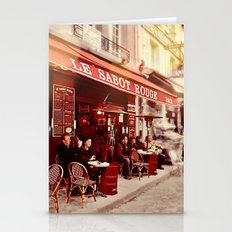 Coffehouse, Sidewalk Cafe Stationery Cards